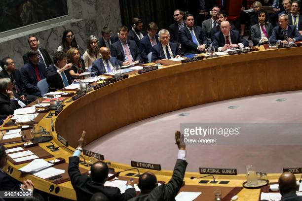 The UN Security Council holds a vote on Russian proposed draft resolution that would condemn the aggression against Syria by the US and its allies...