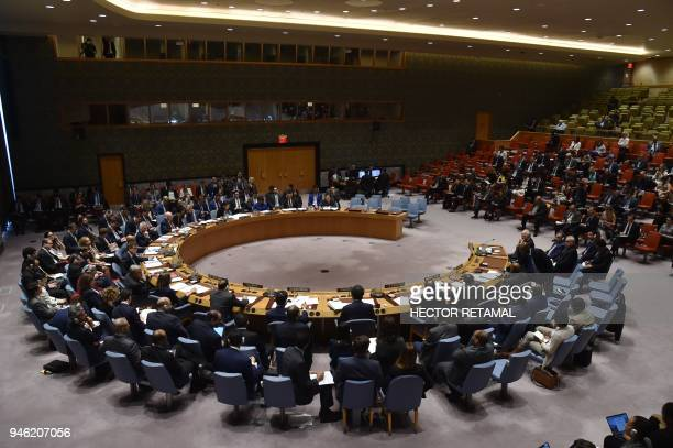 The UN Security Council meets on April 14 at UN Headquarters in New York The UN Security Council on Saturday opened a meeting at Russia's request to...