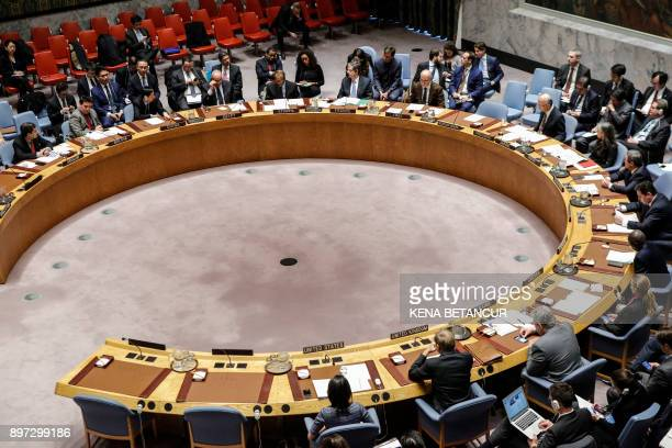 The UN Security Council meets to discuss North Korea on December 22 at UN Headquarters in New York City / AFP PHOTO / KENA BETANCUR