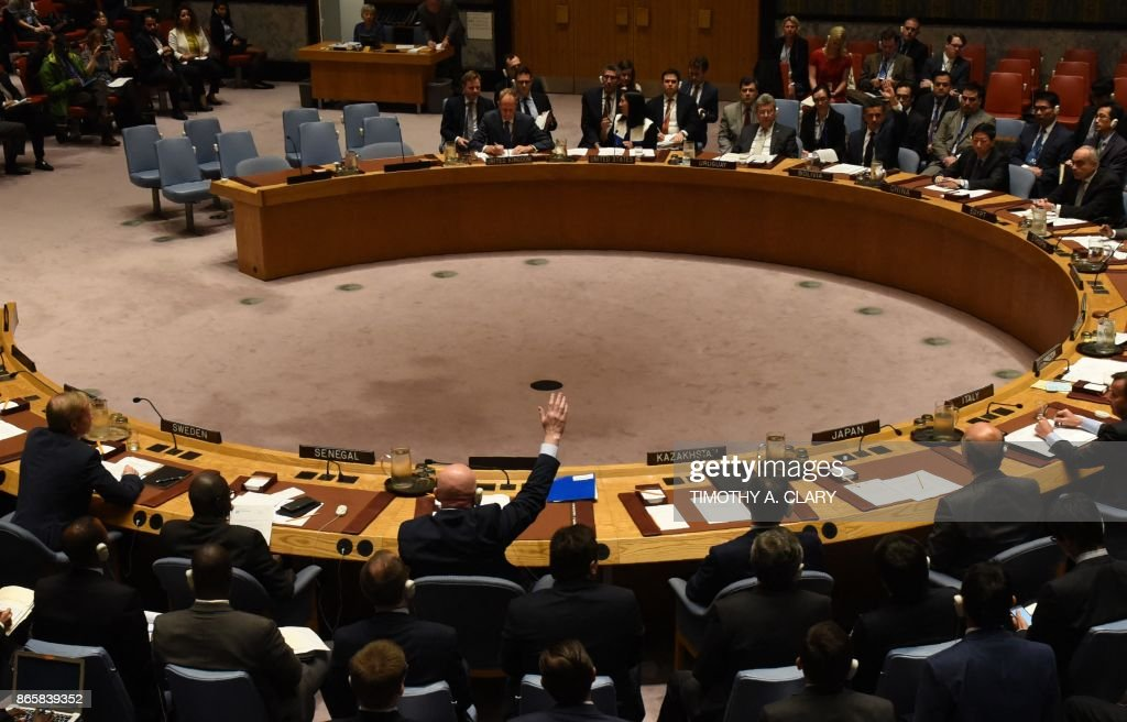 UN-SYRIA-CONFLICT-CHEMICAL-US-RUSSIA-VETO : News Photo