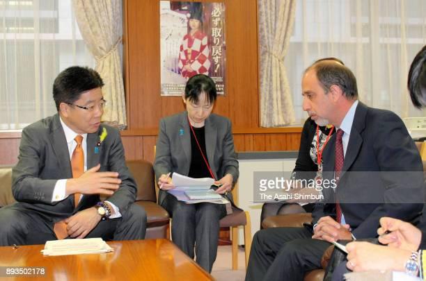 The UN special rapporteur on the situation of human rights in North Korea Tomas Ojea Quintana meets Minister in charge of the Abduction Issue...