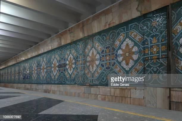 The underground metro in Tashkent, Uzbekistan