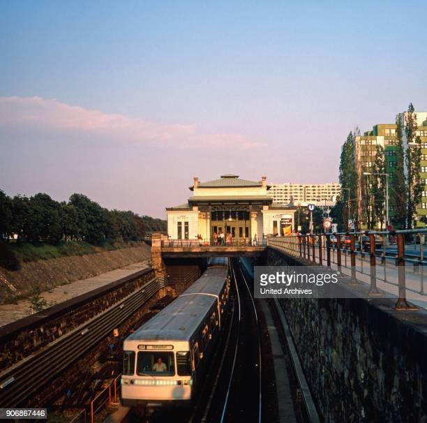 The underground station Ober St Veit in Vienna Austria 1980s