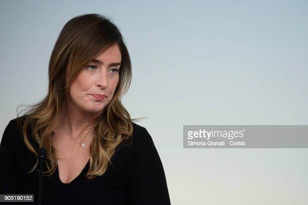 The UnderSecretary to the Presidency of the Council Maria Elena Boschi presents the events for the Day of Remembrance 2018 on January 15 2018 in Rome...