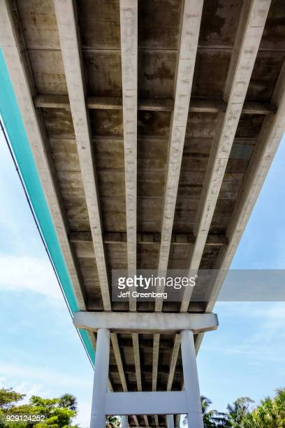 The underside of Matanzas Pass Bridge.