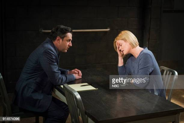 UNIT 'The Undiscovered Country' Episode 1913 Pictured Raul Esparza as ADA Rafael Barba Abigail Hawk as Maggie Householder