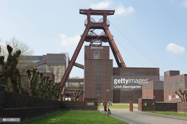 The UNESCO World Heritage Zollverein formerly the world's largest coal mine Exterior view with conveyor tower