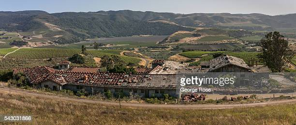 The unfinished and abandoned Carmel of St. Joseph's Monastery, built on the side of a mountain overlooking the Santa Rita Hills and the Santa Ynez...