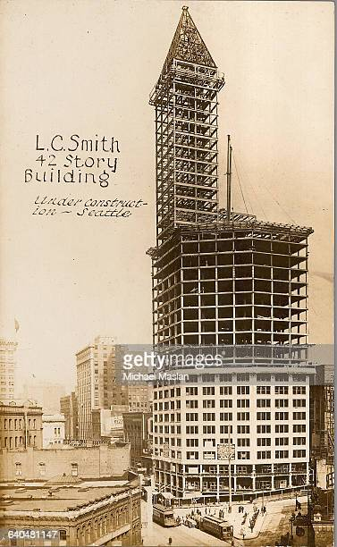 The unfinished LC Smith Building also known as Smith Tower At 42 stories it was the highest building west of the Mississippi River for many years