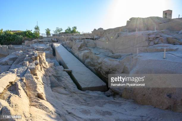 the unfinished obelisk in aswan, egypt - aswan stock pictures, royalty-free photos & images
