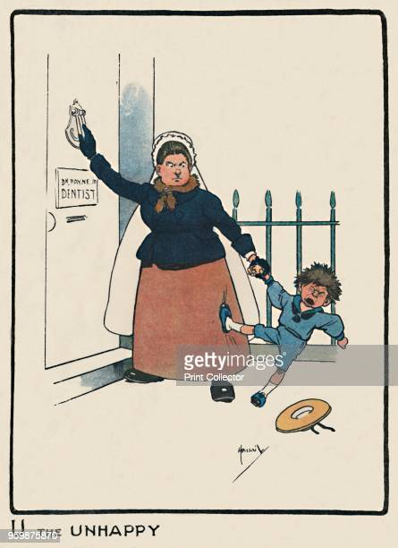 'U the Unhappy' 1903 An initial letter 'U' from a child alphabet From An ABC of Everyday People by G E Farrow [Dean Son Limited London 1903] Artist...
