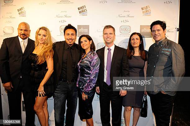 The Unici Team with Michael Faroutan David Martinon Nasrin Imani and Mark Kearney attend the Jewels of France Event with UbiFrance Jewels by Nasrin...