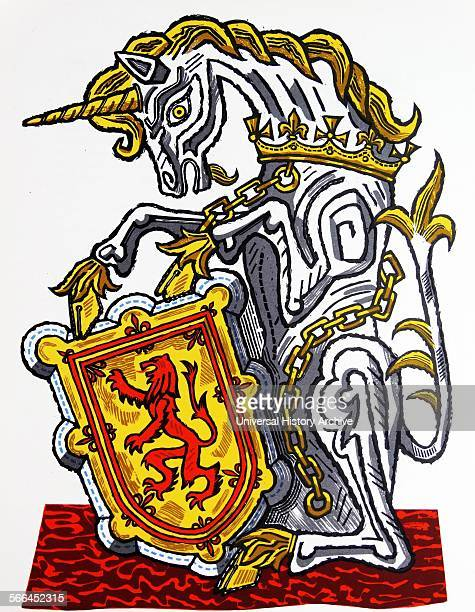 The Unicorn of Scotland one of 'The Queen's Beasts' Drawn by Edward Bawden CBE RA was an English graphic artist