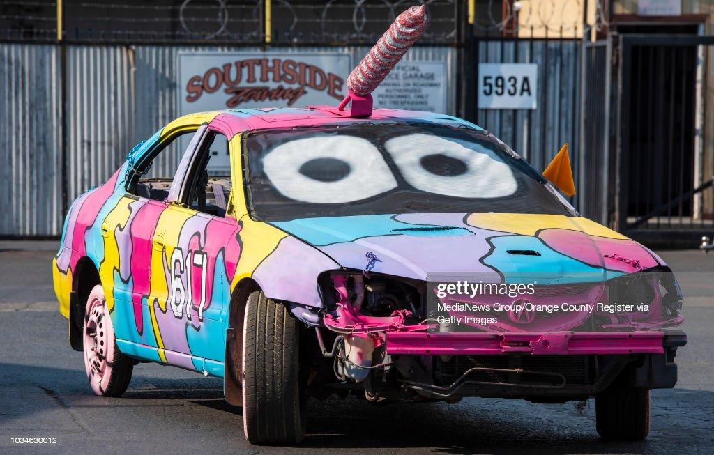 The Unicorn Themed Demolition Derby Car Of Denise Childers Of Orange