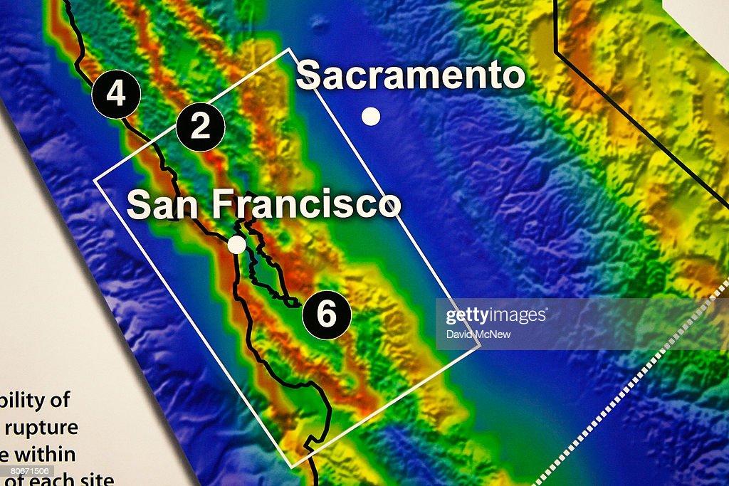 California Releases New Earthquake Forecast Photos And Images - Us Representatives California Map