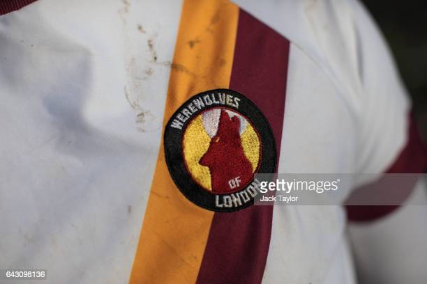 The uniform of a Werewolves of London quidditch player during the Crumpet Cup quidditch tournament on Clapham Common on February 18 2017 in London...