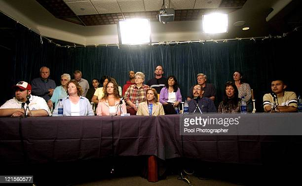 The unindentified jurors of the Michael Jackson child molestation trial speak to the media after handing Jackson acquittals on all counts at the...