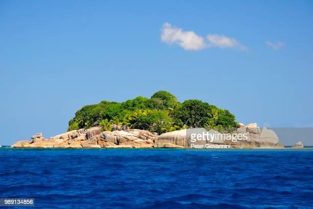 The uninhabited island of Ile Cocos, Coco Island, Praslin, Seychelles