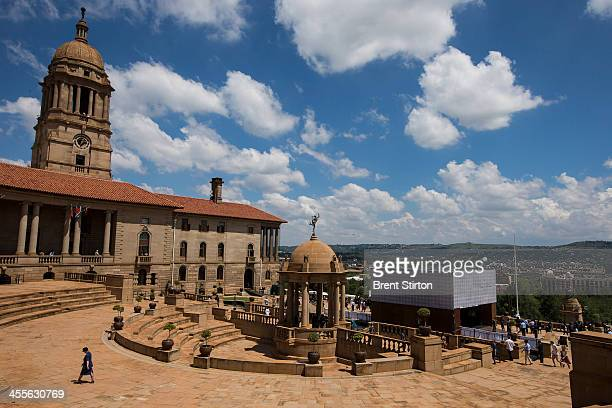 The Union building where Nelson Mandela's body lies in state on December 11 2013 in Pretoria South Africa Nelson Mandela's body will lie in state for...