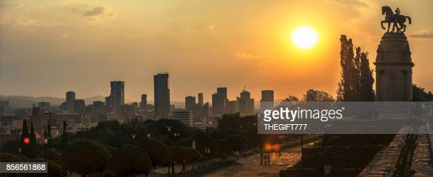 the union buildings and pretoria panorama sunset - tshwane stock pictures, royalty-free photos & images