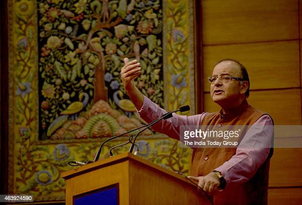 The Union Finance Minister Arun Jaitley at the launch of Central Services on eBiz Portal in New Delhi