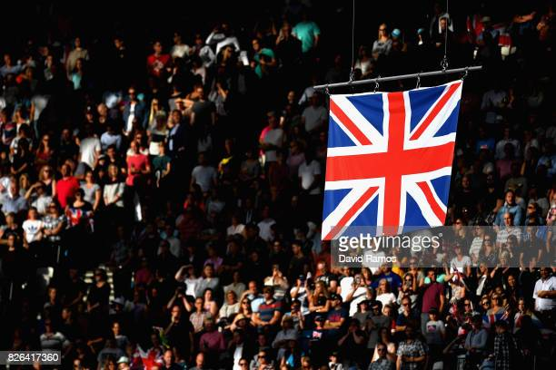 The Union flag is pictured during day one of the 16th IAAF World Athletics Championships London 2017 at The London Stadium on August 4 2017 in London...