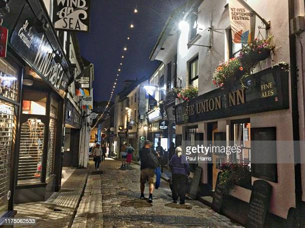 The Union Inn on Fore Street. St Ives during the 2019 September Summer Festival . St Ives has become renowned for its number of artists.It is the...