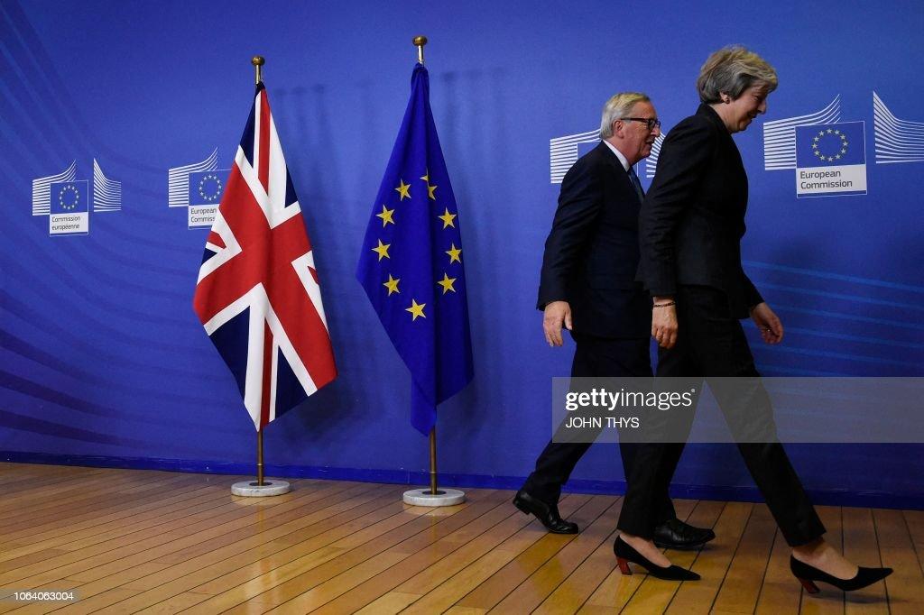 BELGIUM-EU-BRITAIN-BREXIT : News Photo