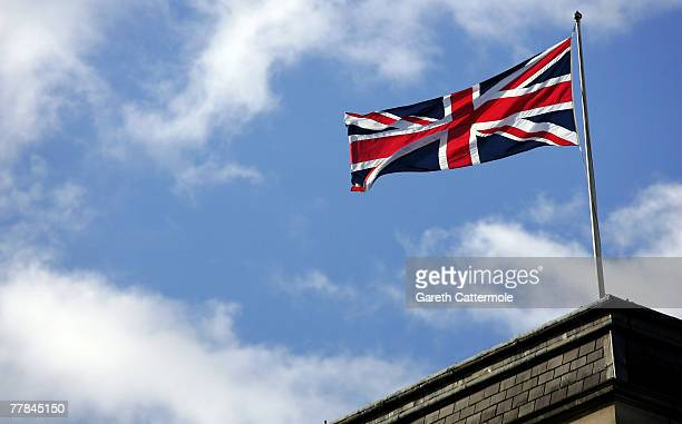The Union Jack flies during Remembrance Sunday ceremonies on November 11 2007 in London Queen Elizabeth II led the Remembrance Sunday ceremony...