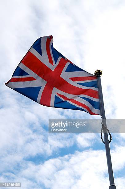 the union jack - flagpole stock pictures, royalty-free photos & images
