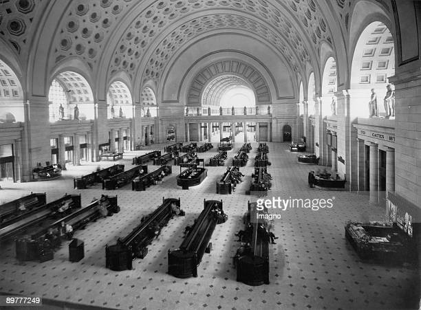 The Union Station in Washington DC one of the bestknown stations of America Photograph Around 1930