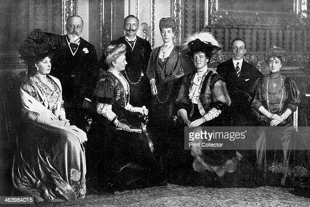 'The Unique and Imperial Royal Gathering at Windsor' 1910 A gathering of European royalty A photograph from Lady's Pictorial 14th May 1910