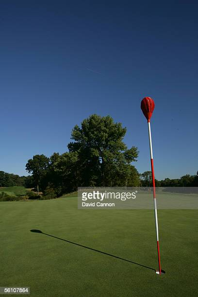 The unique 'Whicker Basket' flagsticks at Merion Golf Club, on September 22, 2005 in Ardmore, Pennsylvania, United States