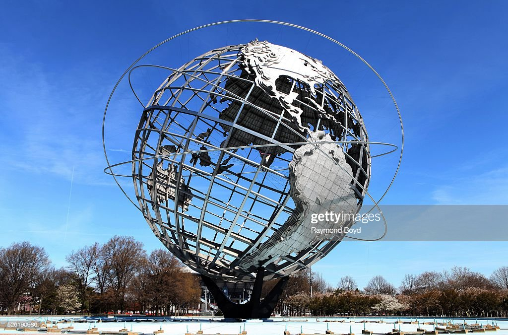 the unisphere in flushing meadows corona park in queens new york photo d 39 actualit getty. Black Bedroom Furniture Sets. Home Design Ideas