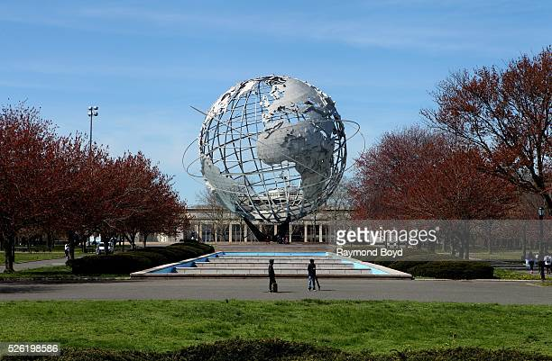 The Unisphere in Flushing Meadows - Corona Park in Queens, New York on April 16, 2016.