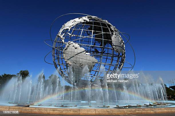 The unisphere is seen during Day Three of the 2012 US Open outside of the USTA Billie Jean King National Tennis Center on August 29, 2012 in the...