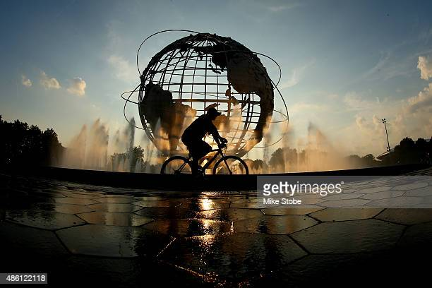 The Unisphere is seen on day one of the 2015 U.S. Open at the USTA Billie Jean King National Tennis Center on August 31, 2015 in New York City.
