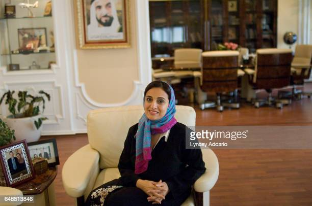 The United Arab Emirates' Minister of Economics Sheikha Lubna Khalid Al Qasimi is seen inside her office in Abu Dhabi United Arab Emirates on Nov 13...