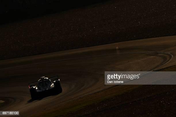 The United Autosports Ligier of Filipe Albuquerque William Owen and Hugo de Sadeleer drives during the Le Mans 24 Hour Race at Circuit de la Sarthe...