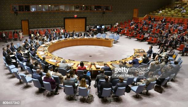 The United Nations convenes an emergency meeting of the Security Council in New York on July 5 in the wake of North Korea's apparent test of an...