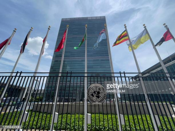 The United Nations headquarters building is seen on the East Side of Manhattan,in New York City, on June 8, 2021.