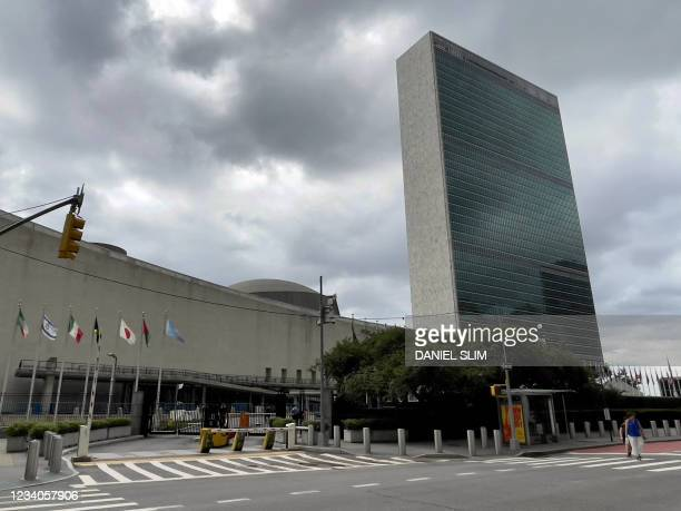 The United Nations headquarters building is seen on the East Side of Manhattan, in New York City, on July 19, 2021.