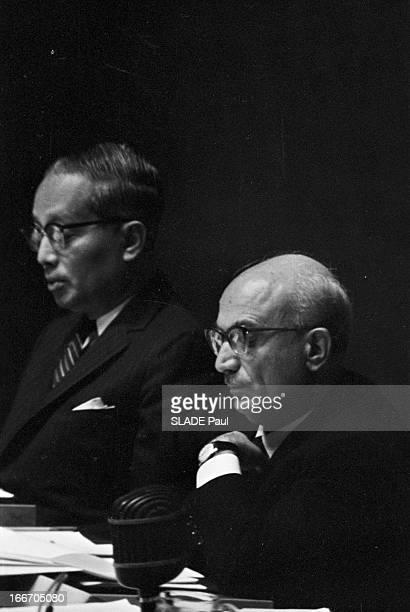 The United Nations In New York. Aux Etats-Unis, à New York, le 26 septembre 1965, lors de l'ouverture de la vingtième session à l'Organisation des...