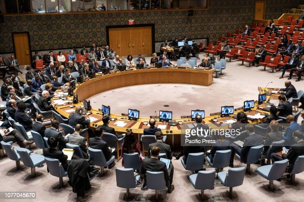 The United Nations SecretaryGeneral's Special Representative for Somalia Nicholas Haysom is seen during a Security Council meeting regarding the...