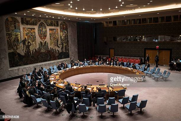 The United Nations Security Council meets briefly concerning peace consolidation in West Africa and the situation in the Middle East at UN...