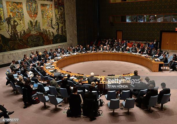 The United Nations Security Council meets to discuss the situation in Ukraine March 19 2014 at UN headquarters in New York AFP PHOTO/Stan HONDA