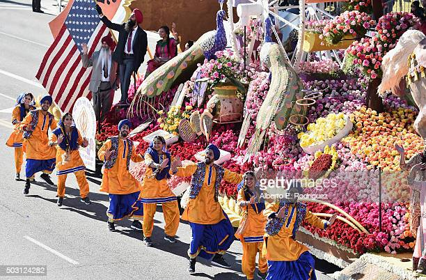 The United Sikh Mission float participates in the 127th Tournament of Roses Parade presented by Honda on January 1 2016 in Pasadena California