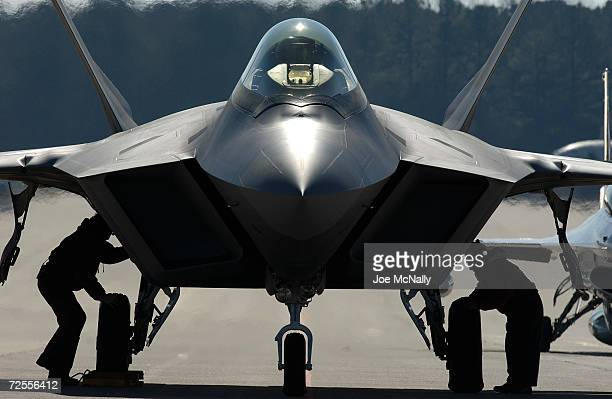 The United States Air Force's F/A22 Raptor which will replace the F15 bomber and is the first supersonic stealth plane ever created is seen January...