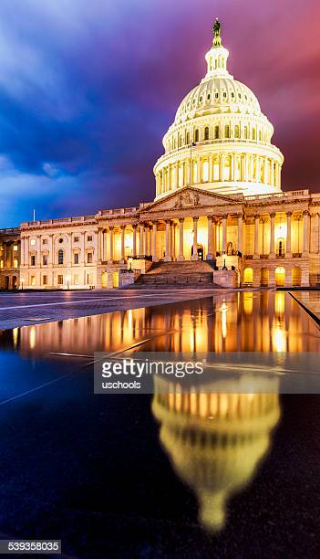 The United States Capitol Building under Dramatic Sky
