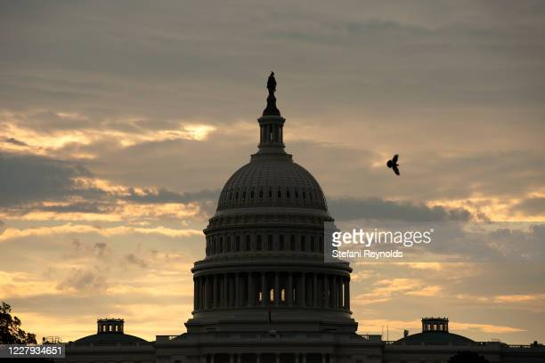 The United States Capitol is seen on August 6 2020 in Washington DC Negotiations between US Treasury Secretary Steven Mnuchin White House Chief of...